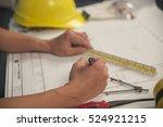closeup of hands of young... | Shutterstock . vector #524921215
