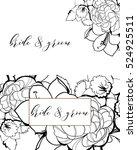 vintage delicate invitation... | Shutterstock .eps vector #524925511