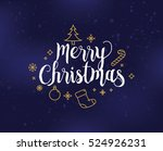 merry christmas text design.... | Shutterstock .eps vector #524926231