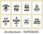 set of 8 cards or posters with... | Shutterstock .eps vector #524926345