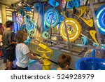 Small photo of AMSTERDAM, THE NETHERLANDS - JUNE 16, 2016: Science Center NEMO - science educational museum in Amsterdam in a beautiful summer day, The Netherlands on June 16, 2016