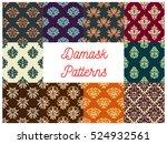 Damask Patterns Set. Vector...