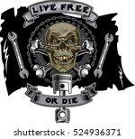 vintage motorcycle label   Shutterstock .eps vector #524936371