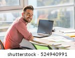 happy smiling businessman... | Shutterstock . vector #524940991