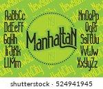manhattan   modern thin line... | Shutterstock .eps vector #524941945