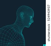 head of the person from a 3d... | Shutterstock .eps vector #524943937