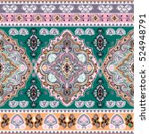 indian floral paisley medallion ...   Shutterstock .eps vector #524948791