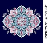 indian floral paisley medallion ... | Shutterstock .eps vector #524948839