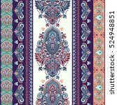 indian floral paisley medallion ... | Shutterstock .eps vector #524948851