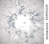 3d rendering  explosion  broken ...   Shutterstock . vector #524952229