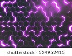 abstract purple background of... | Shutterstock . vector #524952415