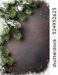 Christmas Stone Background Wit...