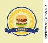 burger food and drink theme | Shutterstock . vector #524953915