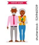 retired couple. african... | Shutterstock .eps vector #524960539