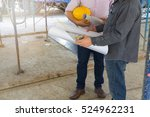 engineer and architect working... | Shutterstock . vector #524962231