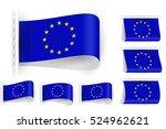 flag of european union is... | Shutterstock .eps vector #524962621