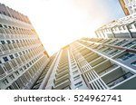 apartment building   vintage... | Shutterstock . vector #524962741