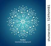 white snowflake made of... | Shutterstock .eps vector #524964481