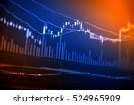 financial data on a monitor as... | Shutterstock . vector #524965909