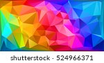 colorful triangular abstract... | Shutterstock . vector #524966371
