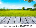 wooden terrace and beautiful...   Shutterstock . vector #524970919