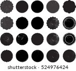 grunge post stamps collection ... | Shutterstock .eps vector #524976424