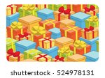gift card with boxes and bows   ... | Shutterstock .eps vector #524978131
