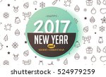 merry christmas and happy new... | Shutterstock .eps vector #524979259