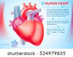 medical organ poster with red... | Shutterstock .eps vector #524979835