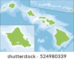 hawaii is the 50th and most... | Shutterstock . vector #524980339