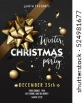holiday merry christmas party... | Shutterstock .eps vector #524981677