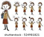 blazer girls student  set | Shutterstock .eps vector #524981821