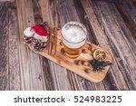 christmas beer  | Shutterstock . vector #524983225