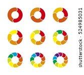 vector circle infographic.   Shutterstock .eps vector #524985031