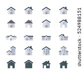 house and home icons set of... | Shutterstock .eps vector #524988151