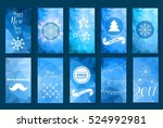 colorful merry christmas flyer. ... | Shutterstock .eps vector #524992981