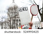 people protesting | Shutterstock . vector #524993425