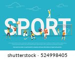 sport concept illustration of... | Shutterstock . vector #524998405