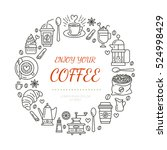 coffee shop poster template.... | Shutterstock .eps vector #524998429