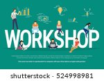 workshop concept illustration... | Shutterstock . vector #524998981