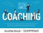 coaching concept illustration... | Shutterstock . vector #524999065