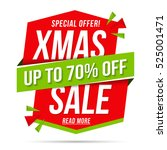christmas sale  special offer ... | Shutterstock .eps vector #525001471
