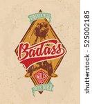 bear college tee print vintage... | Shutterstock .eps vector #525002185