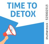 time to detox announcement....