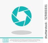 camera shutter icon.   Shutterstock .eps vector #525003331