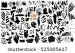vector set of black ink vector...   Shutterstock .eps vector #525005617
