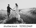 beautiful couple in wedding day. | Shutterstock . vector #525012469