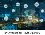 internet of things and smart... | Shutterstock . vector #525012499