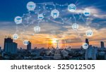 internet of things and smart... | Shutterstock . vector #525012505