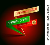 christmas sale special offer... | Shutterstock .eps vector #525012535